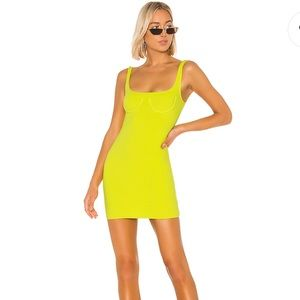H.ours Lime Yellow Dress